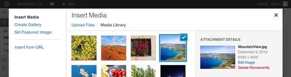 WordPress 3.5 Media Changes