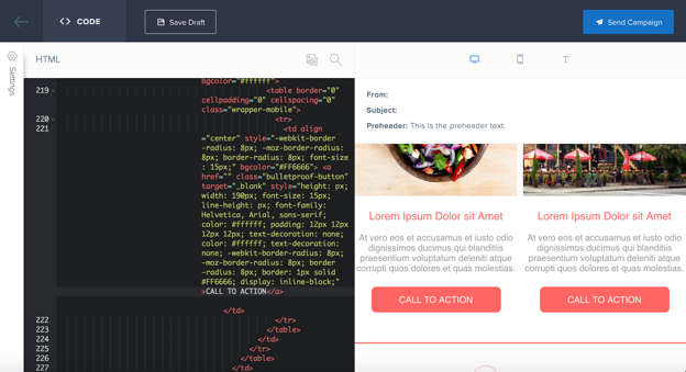 The SendGrid Code Editor